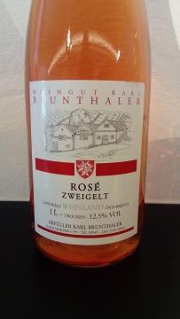 Zweigelt rosé Landwein, Weingut Karl Brunthaler